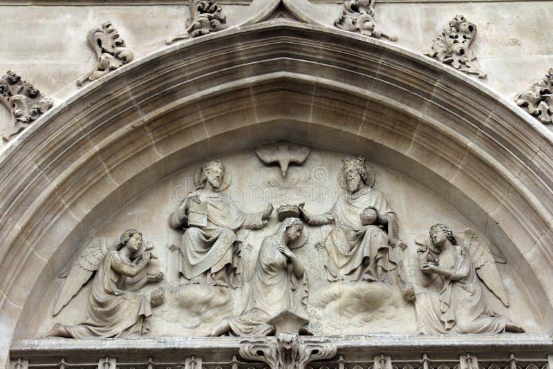 Kroning van Heilige Maagdelijke Mary royalty-vrije stock foto's