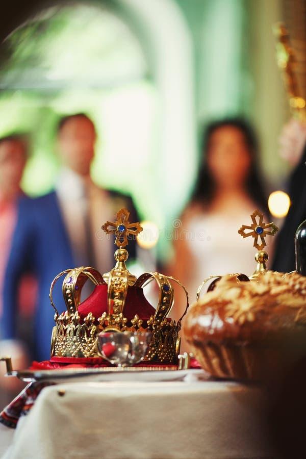 Kroning van het huwelijk royalty-vrije stock afbeelding