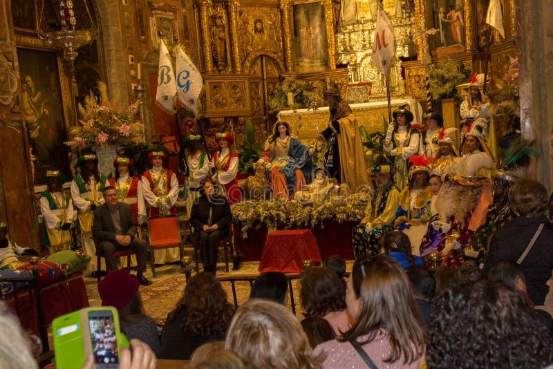 Kroning van Reyes Magos stock afbeeldingen