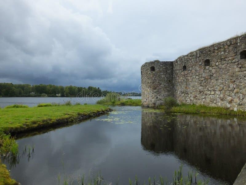 Kronoberg废墟-韦克舍-瑞典 库存照片