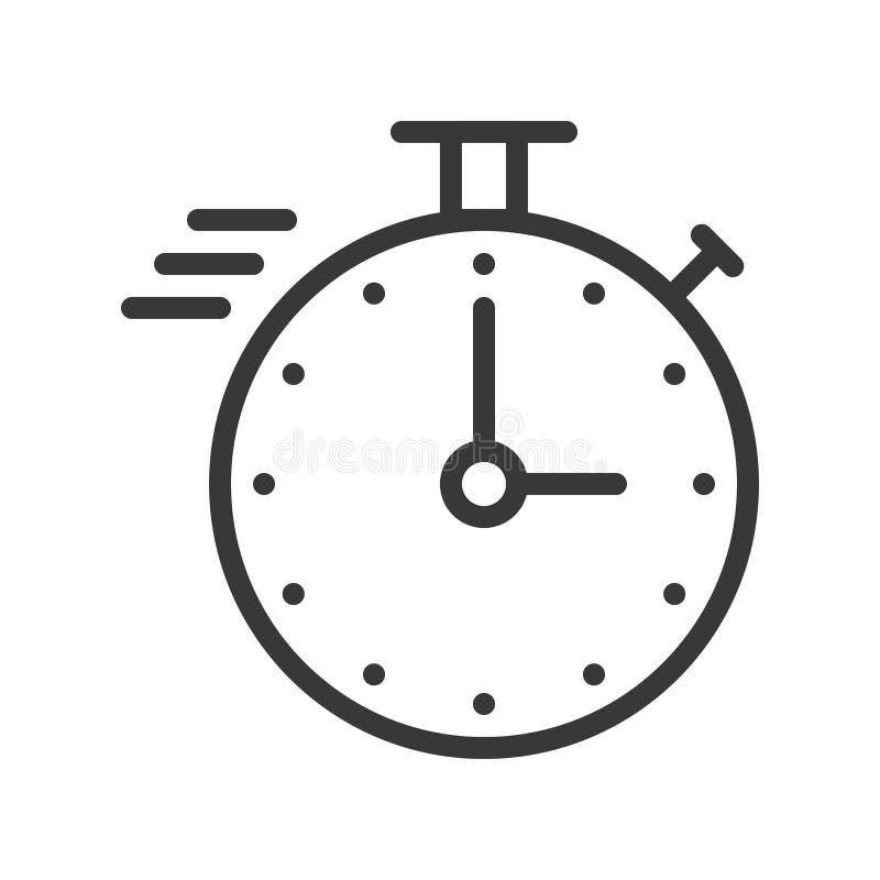 Kronometer eller hastighetssymbol med stoppuren, perfekt design för PIXEL stock illustrationer