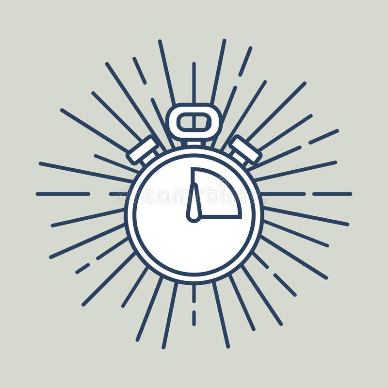 Kronometersymbolsbild vektor illustrationer