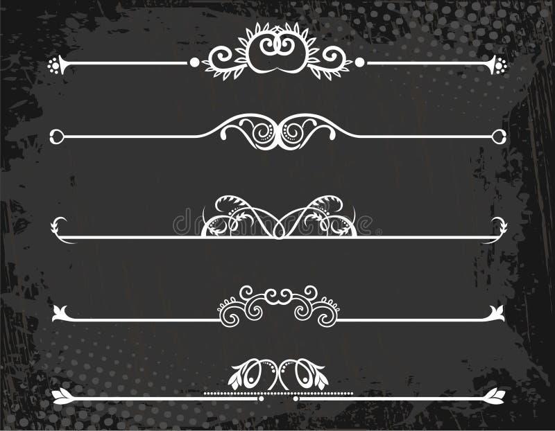 kronor line regal regel vektor illustrationer