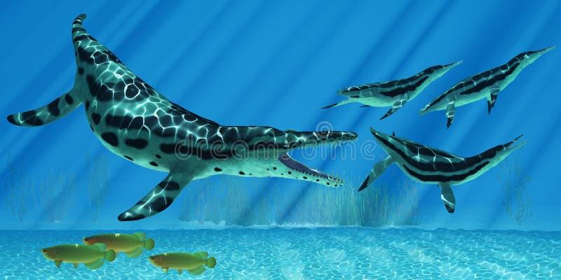 Kronosaurus Marine Reptile illustration libre de droits