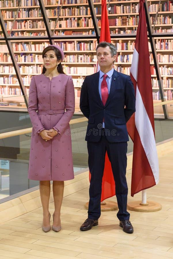 Kronprinsessa Mary Elizabeth av Danmark och Frederik, kronprins av Danmark fotografering för bildbyråer