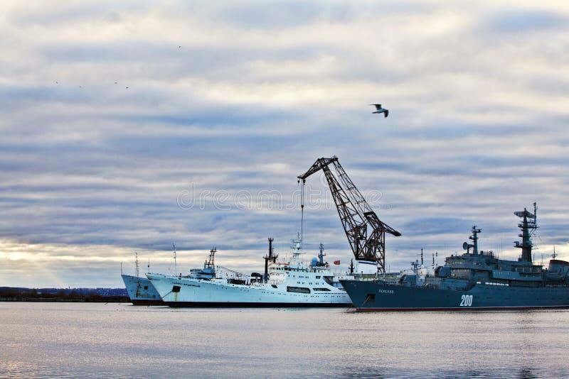 kronstadt端口 免版税库存照片
