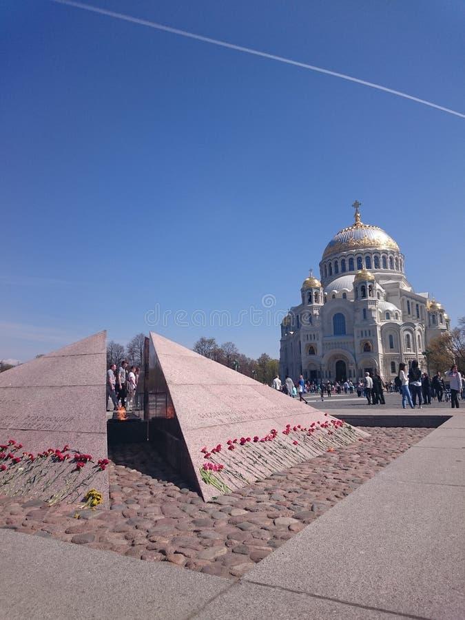 Καθεδρικός ναός θάλασσας του Άγιου Βασίλη σε Kronstadt, Αγία Πετρούπολη, Ρωσία στοκ φωτογραφίες