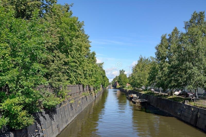 Kronstadt, обводной канал стоковая фотография rf