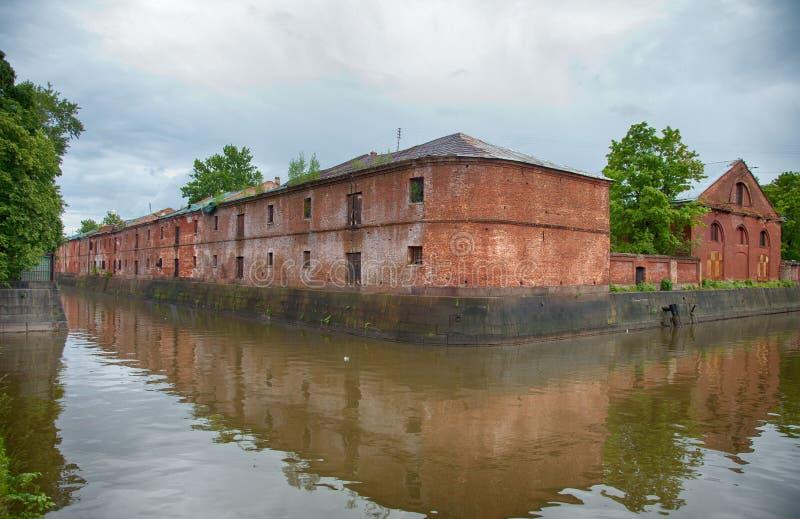 Kronstadt Обводной канал стоковая фотография