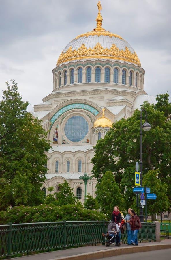Kronstadt Catedral de San Nicolás (mar) fotografía de archivo