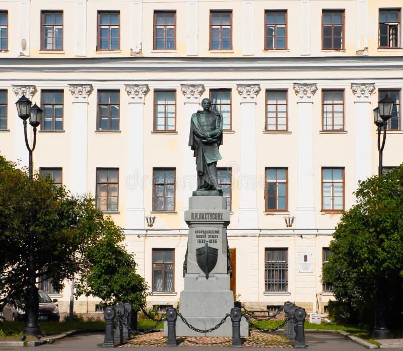 Kronstadt Monument P K Pahtusovu - Forscher Novaya Zemlya 1832-1835 stockbild