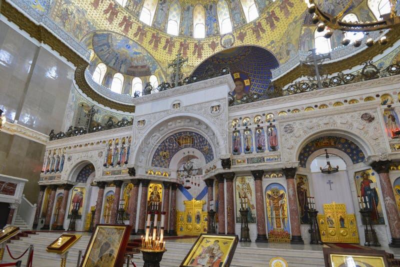 Kronstadt st nicholas собора военноморской стоковое фото rf