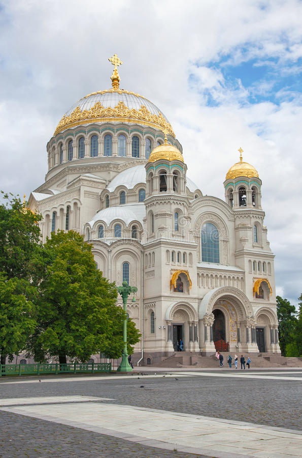 Kronstadt. St. Nicholas (Sea) Cathedral. Kronstadt. St.Peterburg area. Russian Federation. View on St. Nicholas Sea Cathedral stock photography