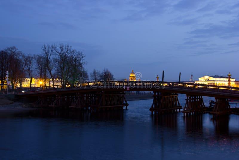 Kronverski bridge, St. Petersburg, Russia royalty free stock images