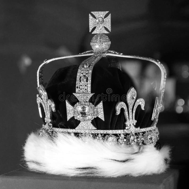 kroon De Zwart-witte foto van Peking, China stock fotografie