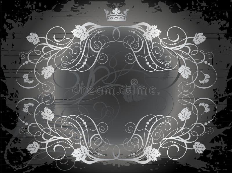 Kroon en wijnstokkenillustratie stock illustratie