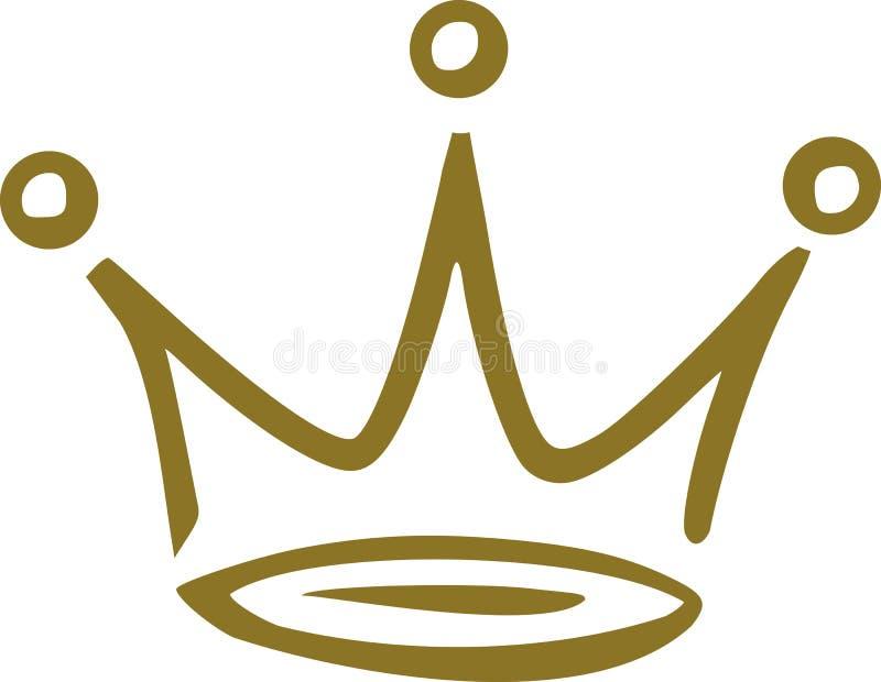 Kroon handdrawn vector vector illustratie