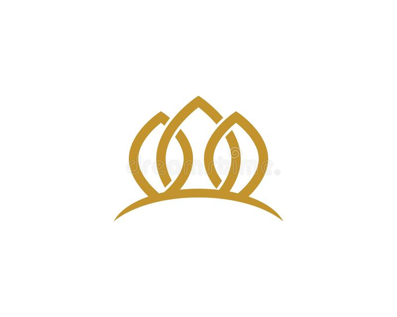 Kroon Logo Template stock illustratie