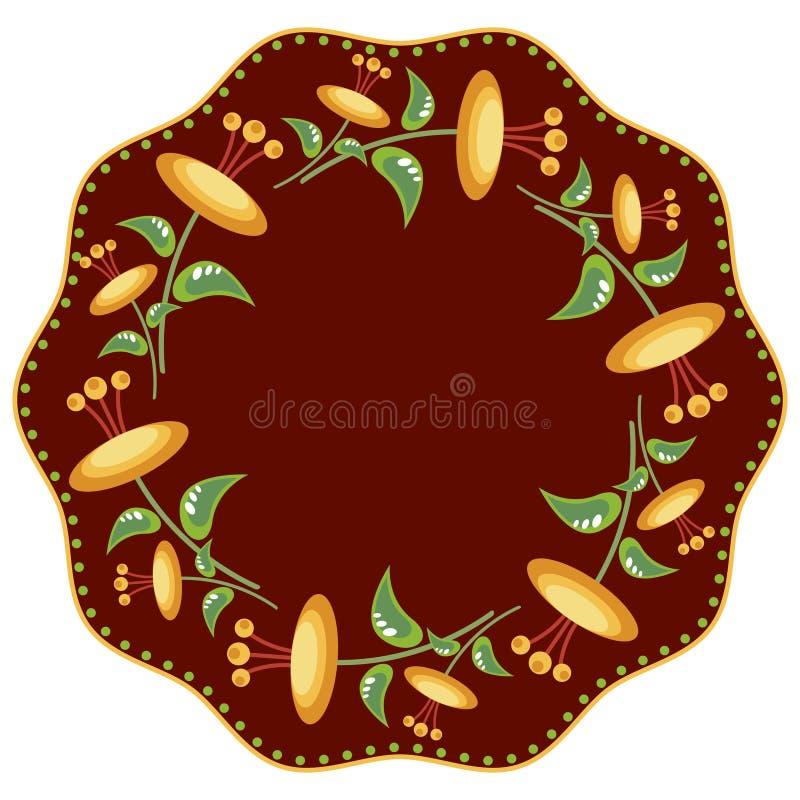 Download Kroon met gele bloemen vector illustratie. Illustratie bestaande uit vorm - 39106516