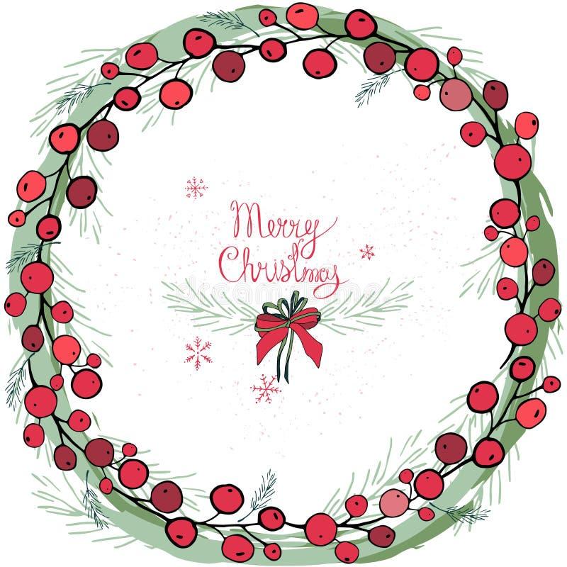 Kroon met Kerstmisdecoratie en snoepjes, peperkoek De ronde slinger is verfraaid met feestelijke feestelijke elementen, sneeuwvlo royalty-vrije stock foto