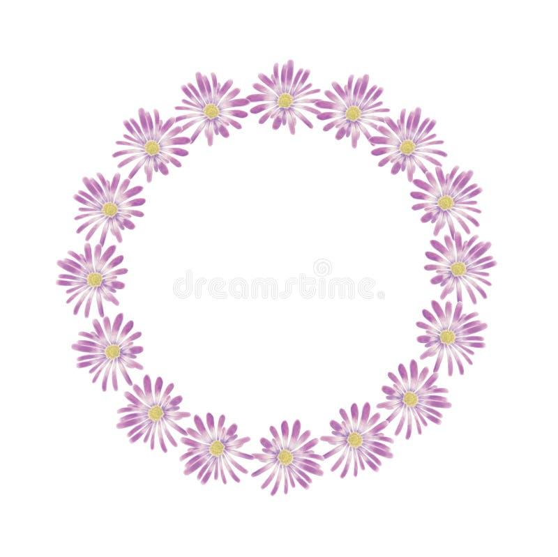 Kroon van de waterverf de violette anemoon vector illustratie