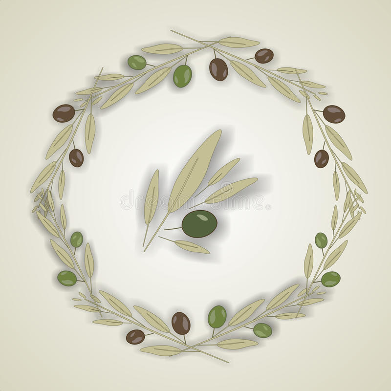 Kroon van olijfbladeren, vector stock illustratie