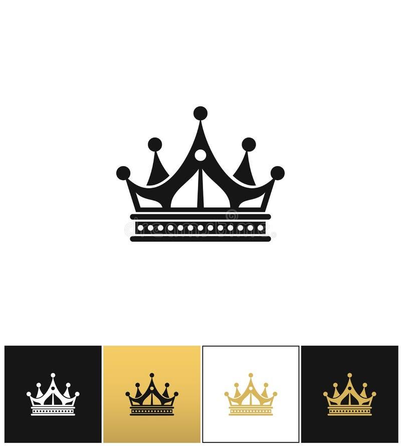 Kroon vectorpictogram royalty-vrije illustratie