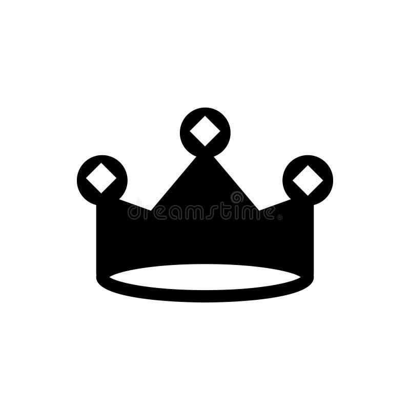 Kroon vectorpictogram, de illustratie van het koningsembleem stock illustratie