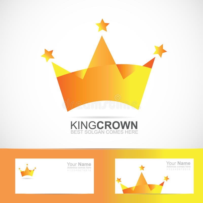 Kroonembleem stock illustratie