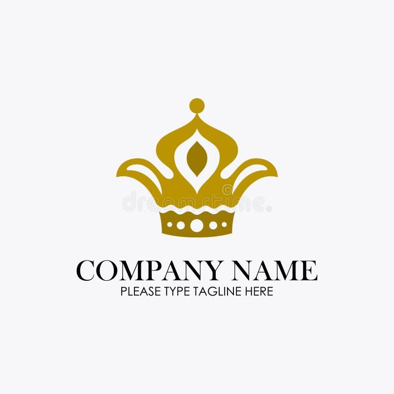 Kroonembleem voor juwelenbedrijf stock illustratie
