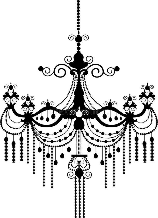 Kroonluchter royalty-vrije illustratie