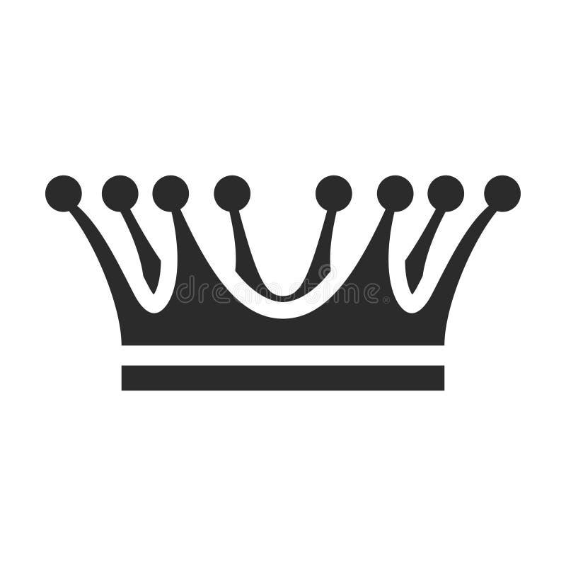 Kroonpictogram, kroning en het ontwerp van het wapenkundeembleem stock illustratie