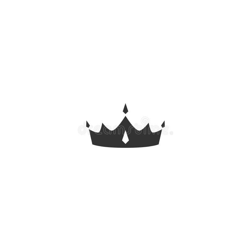 Kroonpictogram op wit wordt geïsoleerd dat Koninklijk, luxe, vip, eerste klassenteken Winnaartoekenning Monarchie, gezag, machtss stock illustratie