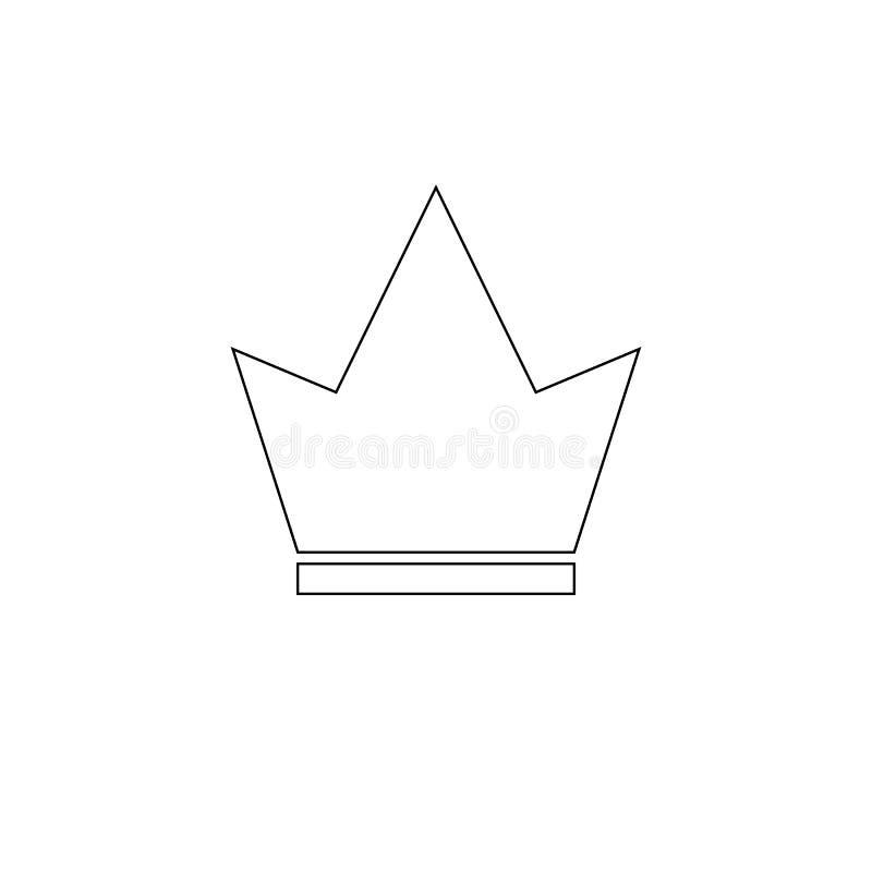 Kroonpictogram in in vlakke die stijl op witte achtergrond wordt geïsoleerd Kroonsymbool voor uw websiteontwerp, embleem, app, UI royalty-vrije illustratie