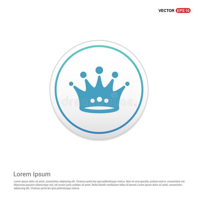 Kroonpictogram - witte cirkelknoop royalty-vrije illustratie