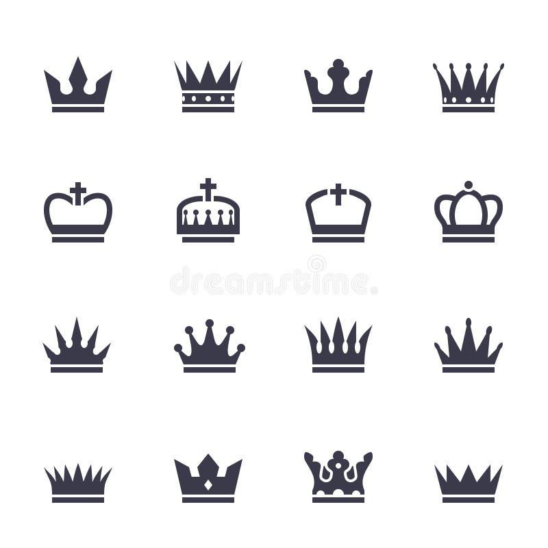 Kroonpictogrammen royalty-vrije illustratie