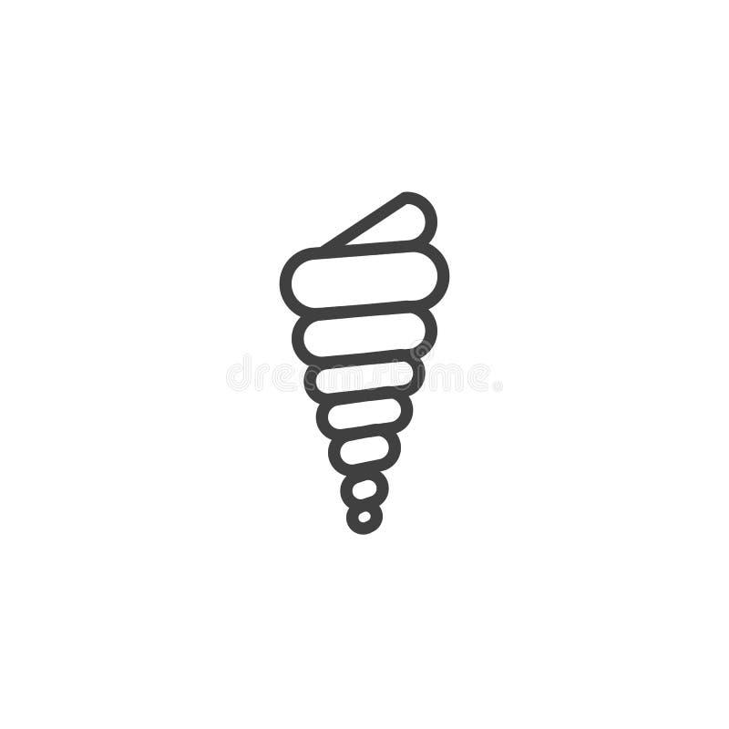 Kroonslakshell lijnpictogram vector illustratie