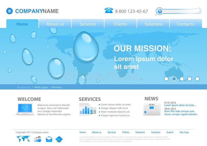 kropel szablonu wody strona internetowa ilustracja wektor