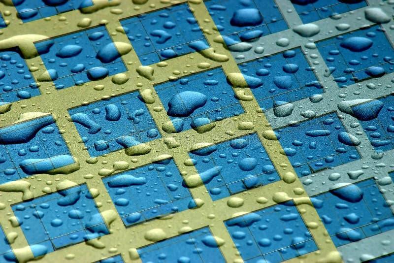 kropelki abstrakcjonistyczna woda zdjęcie stock