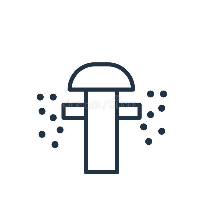 Kropidło ikona odizolowywająca na białym tle, kropidło znak ilustracji