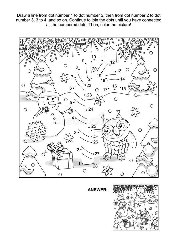 Kropka i kolorystyki strona z cukierek trzciną ilustracja wektor