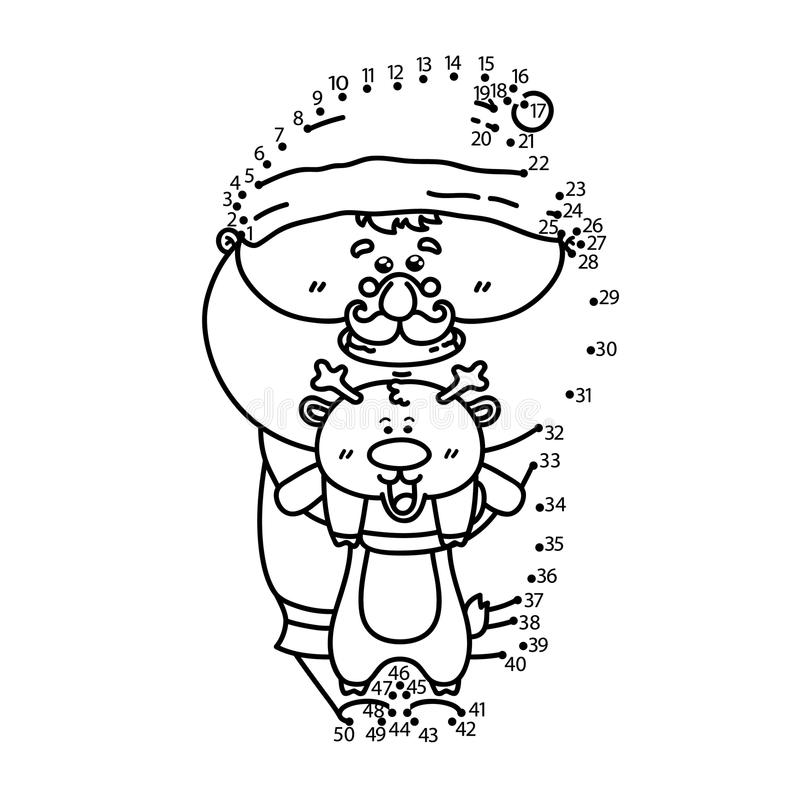 Kropka kropkować Santa grę ilustracji