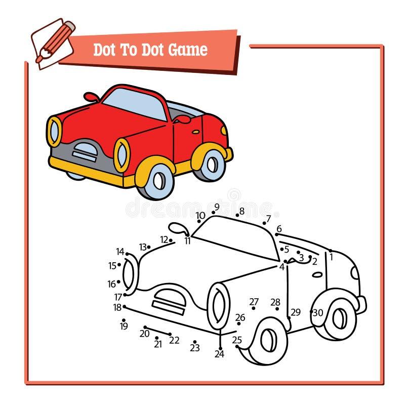 Kropka kropkować z kreskówka samochodem ilustracji