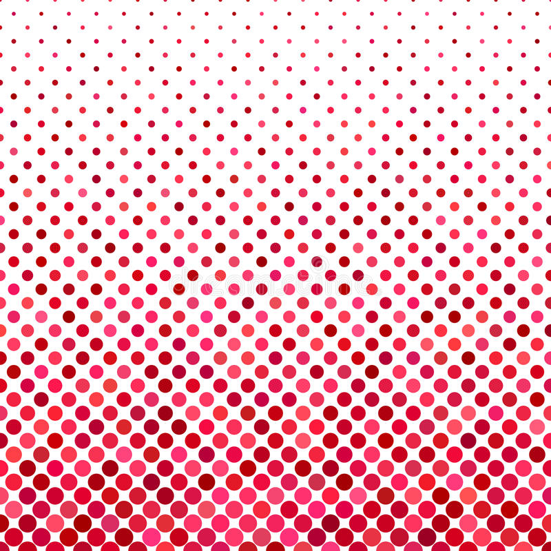 Kropka wzoru tło - geometryczny wektorowy graficzny projekt od okregów w czerwonych brzmieniach ilustracja wektor