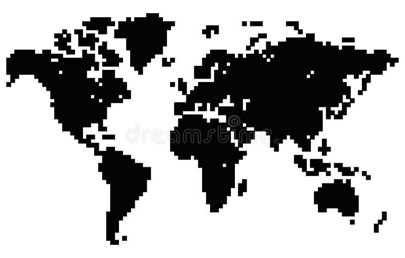 Kropki światowa mapa ilustracja wektor