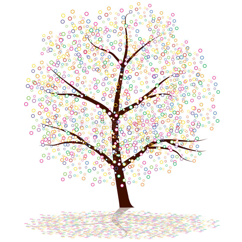 kropki drzewo ilustracja wektor