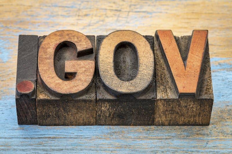 Kropki gov interneta domena zdjęcia stock