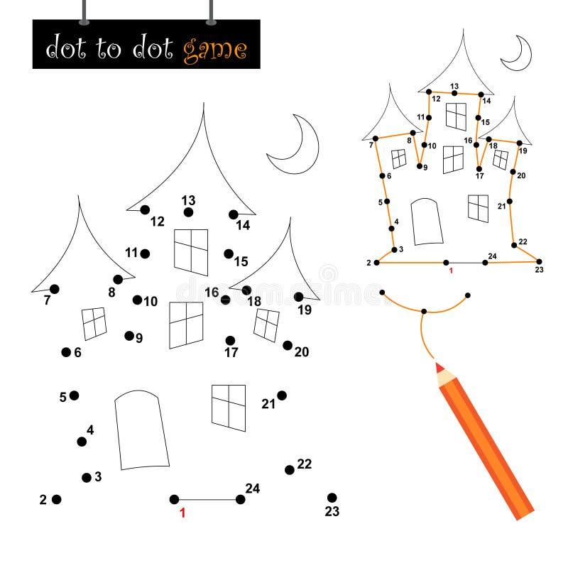 kropki gra nawiedzający dom ilustracji