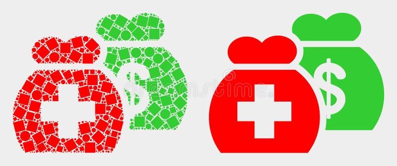 Kropki i mieszkania funduszy Wektorowa Medyczna ikona royalty ilustracja