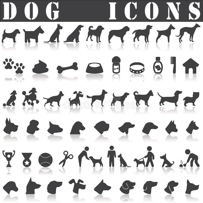 Kropki ikony set ilustracji